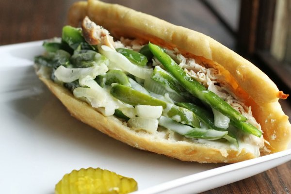 Chicken Cheese Steak Sandwich Recipe
