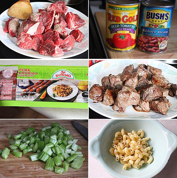 Chorizo Chili Ingredients