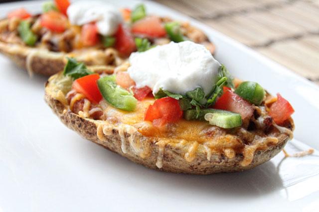 Tex-Mex Potato Skins Recipe