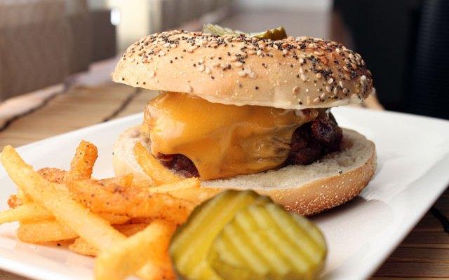 The Everything Bagel Cheeseburger