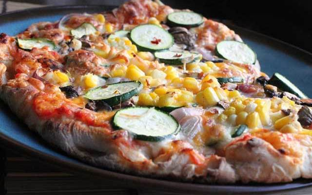 Corn and Zucchini Pizza
