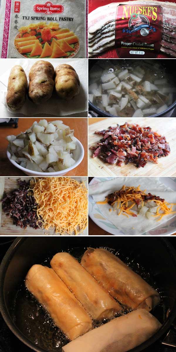 How to make loaded baked potato egg rolls