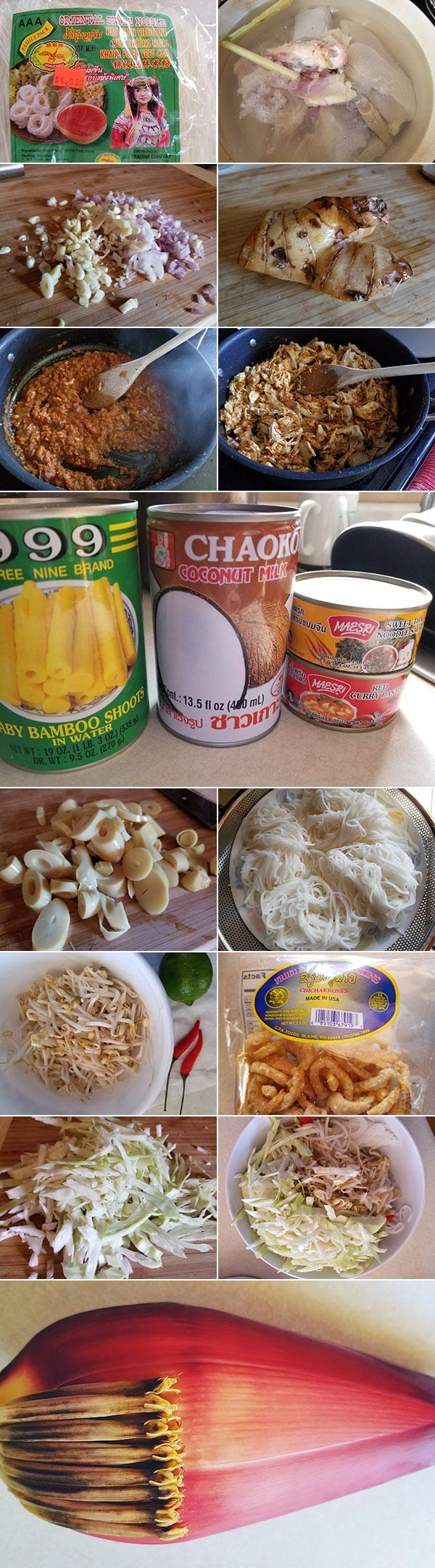 Khao Poon Ingredients