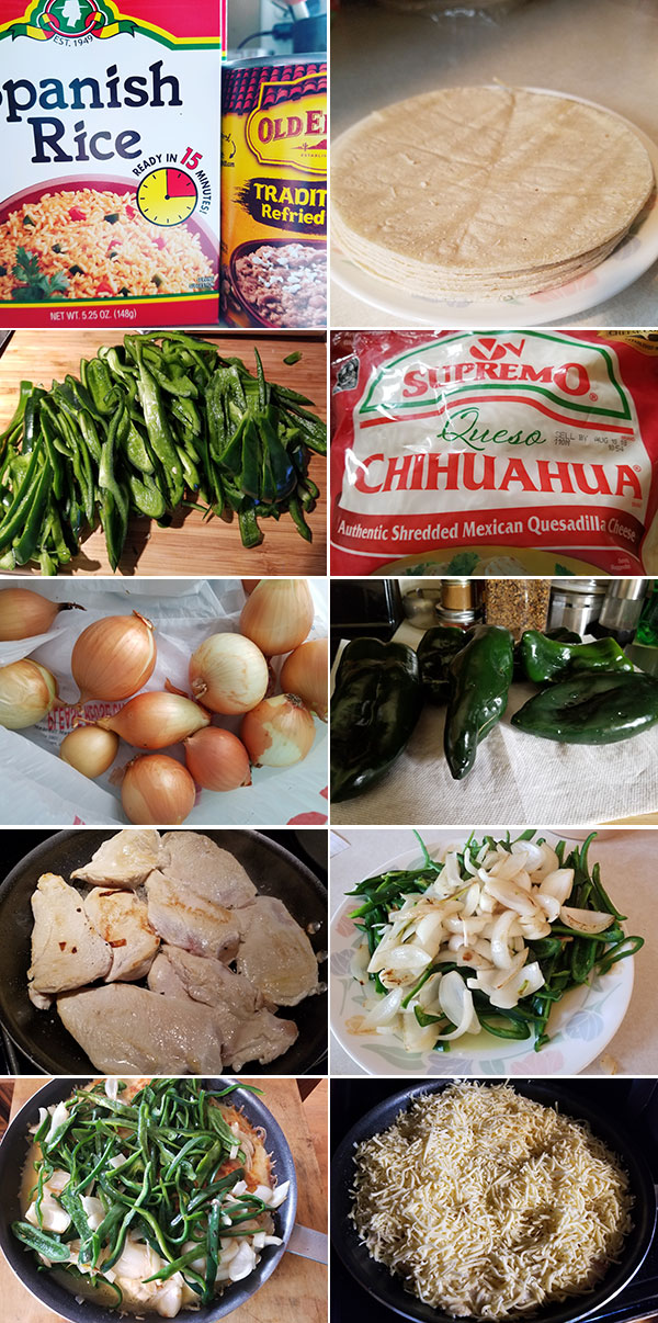 Chicken Poblano Ingredients