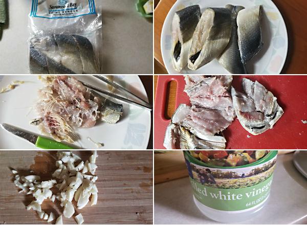 Ingredients for making Filipino Bangus