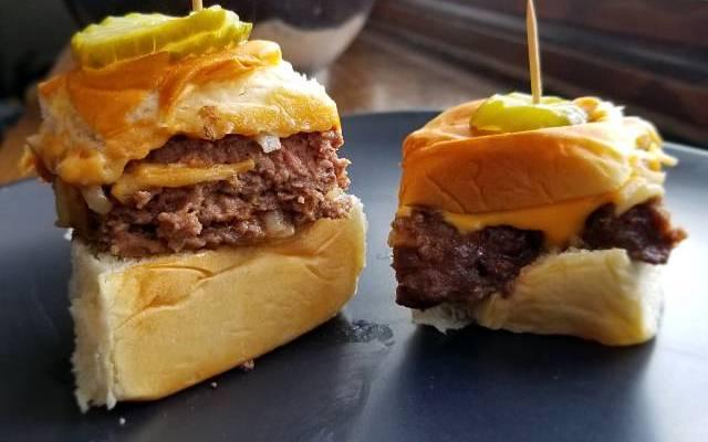 White Castle Style Cheeseburger Sliders
