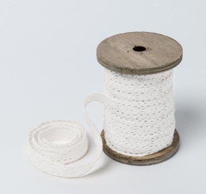 e ruban de dentelle blanc 1,5cmx10m