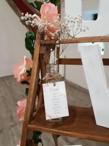 Plan de table - Mariage champêtre romantique