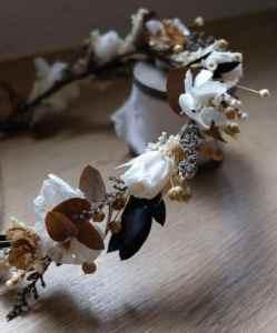 Couronne fleurs stabilisées 2