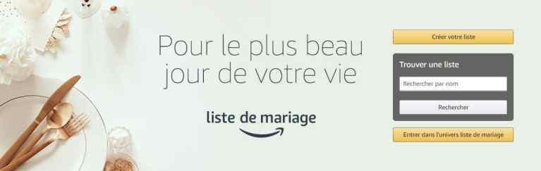 amazon liste de mariage