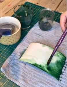 marque-tables aquarelle et feuilles d'or (8)