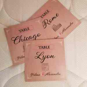Nom de table - Hélène et Alexandre