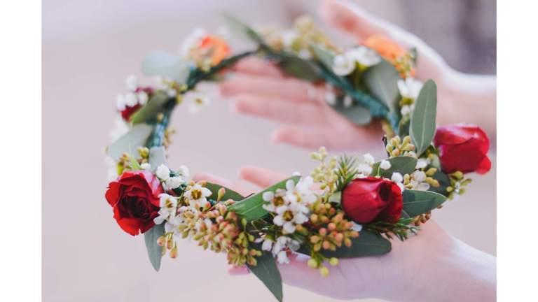 animations insolites mariage - atelier couronne de fleur