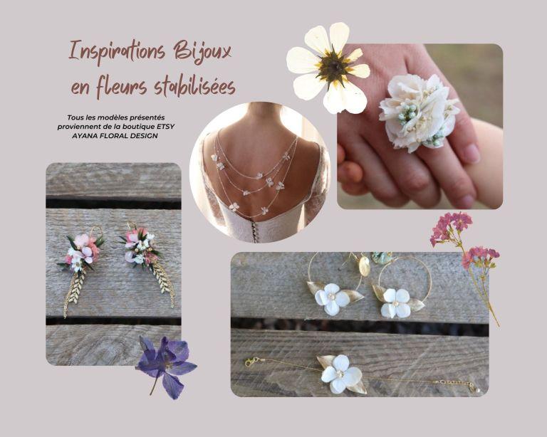 Inspirations Bijoux en fleurs stabilisées
