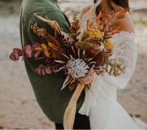 bouquet fleurs séchées Atelier Aimer