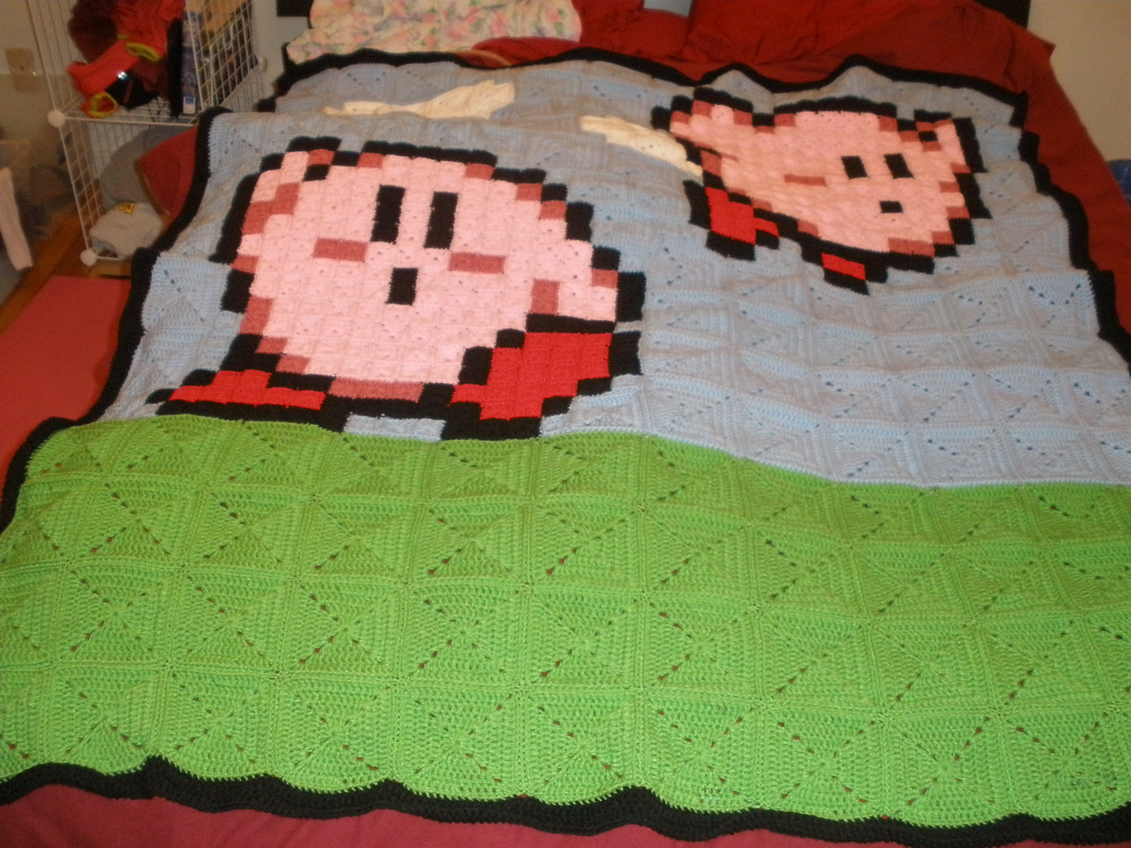 Easy And Funny 8 Bit Kirby Blanket