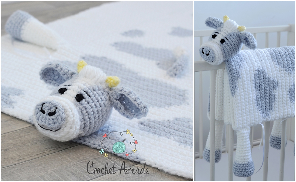 Cuddle And Play Cow Baby Blanket Idea