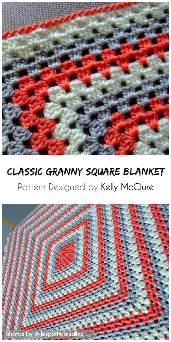 Classic Granny Square Blanket With Free Crochet Pattern