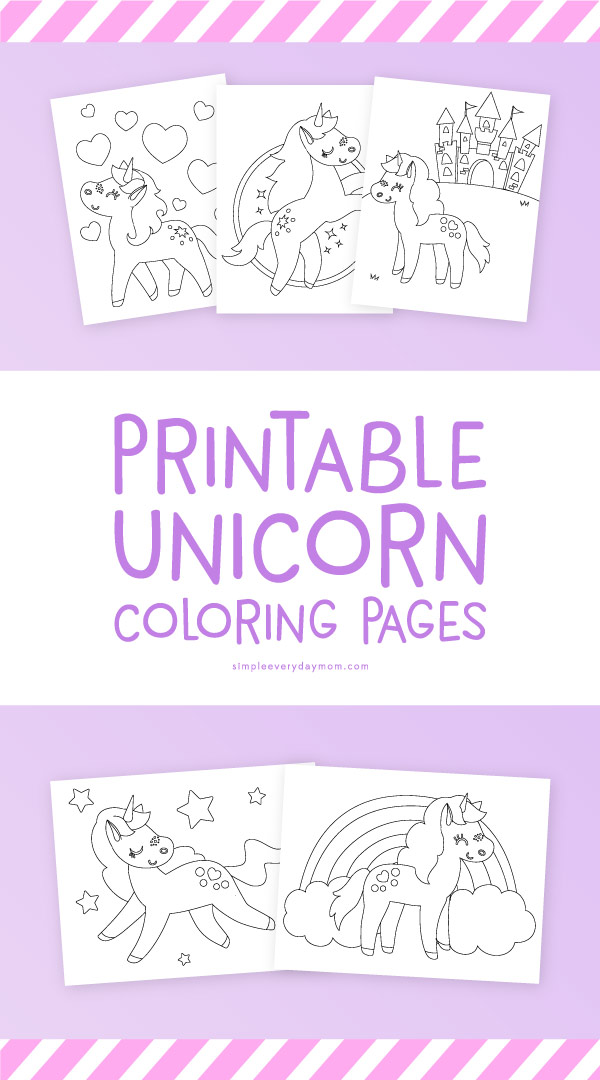 free unicorn coloring pages # 19