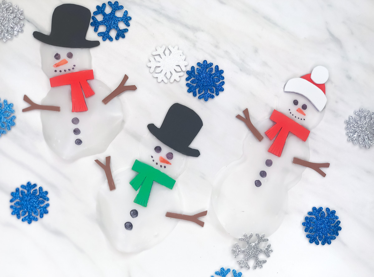 Make This Easy Window Cling Snowman Craft For Kids