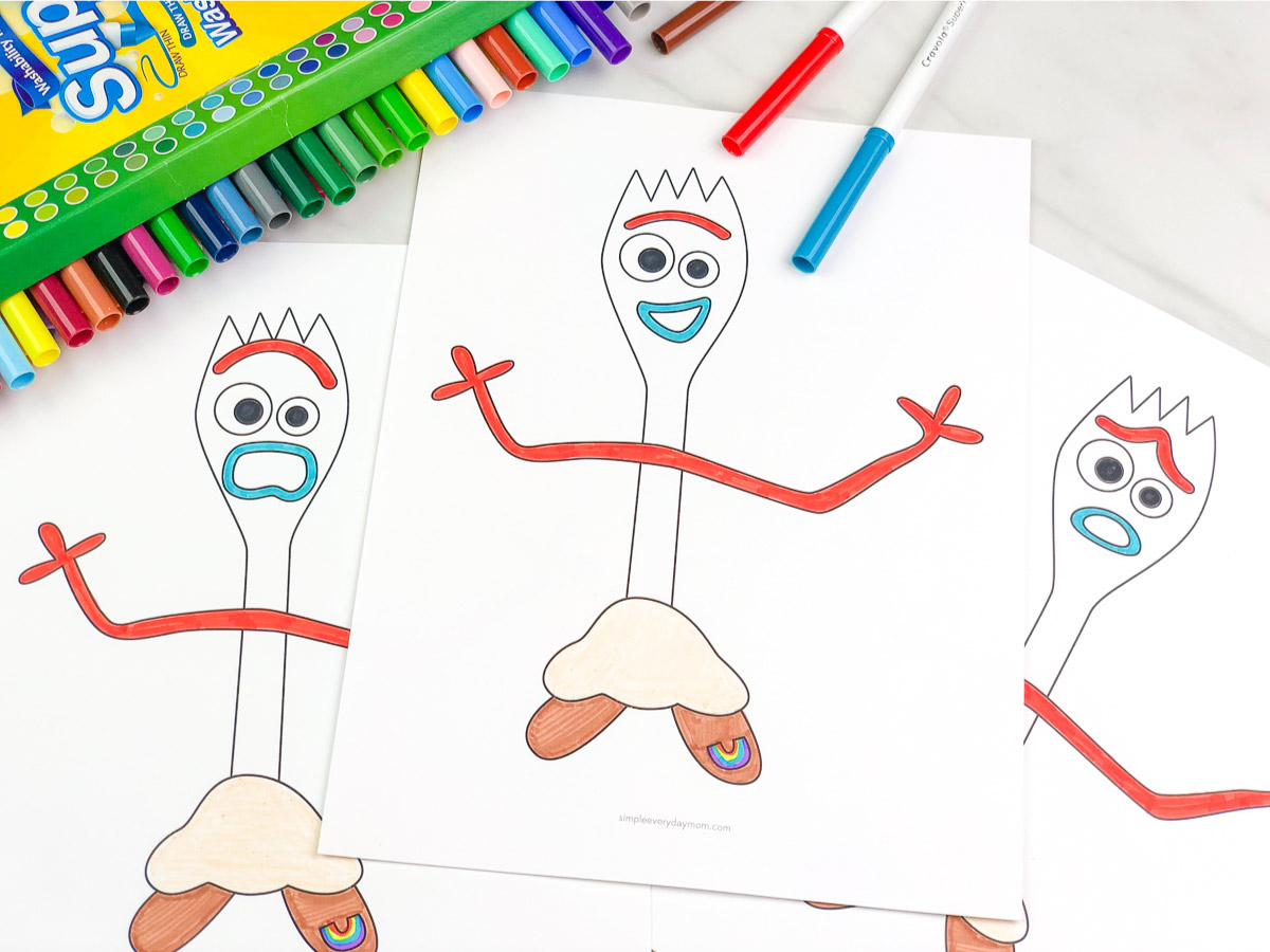 Toy Story 4 Forky Coloring Pages For Kids