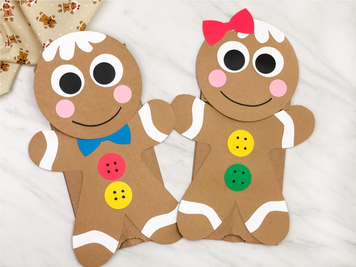 Gingerbread Man Paper Bag Puppet Craft