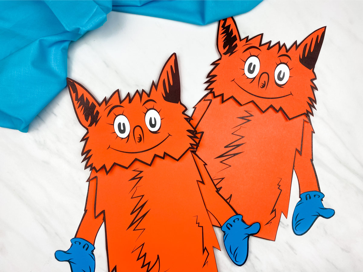 Fox In Socks Paper Bag Puppet Craft