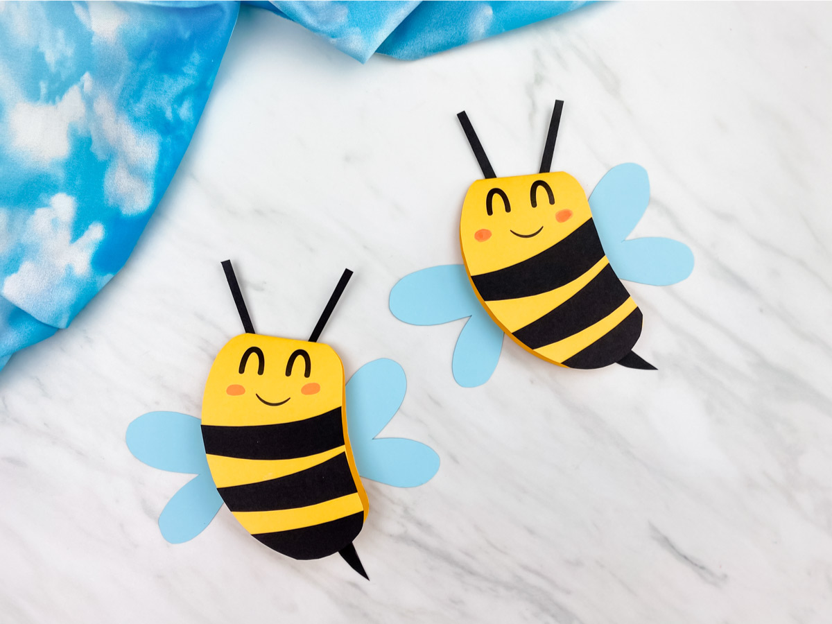 Bee Card Craft For Kids