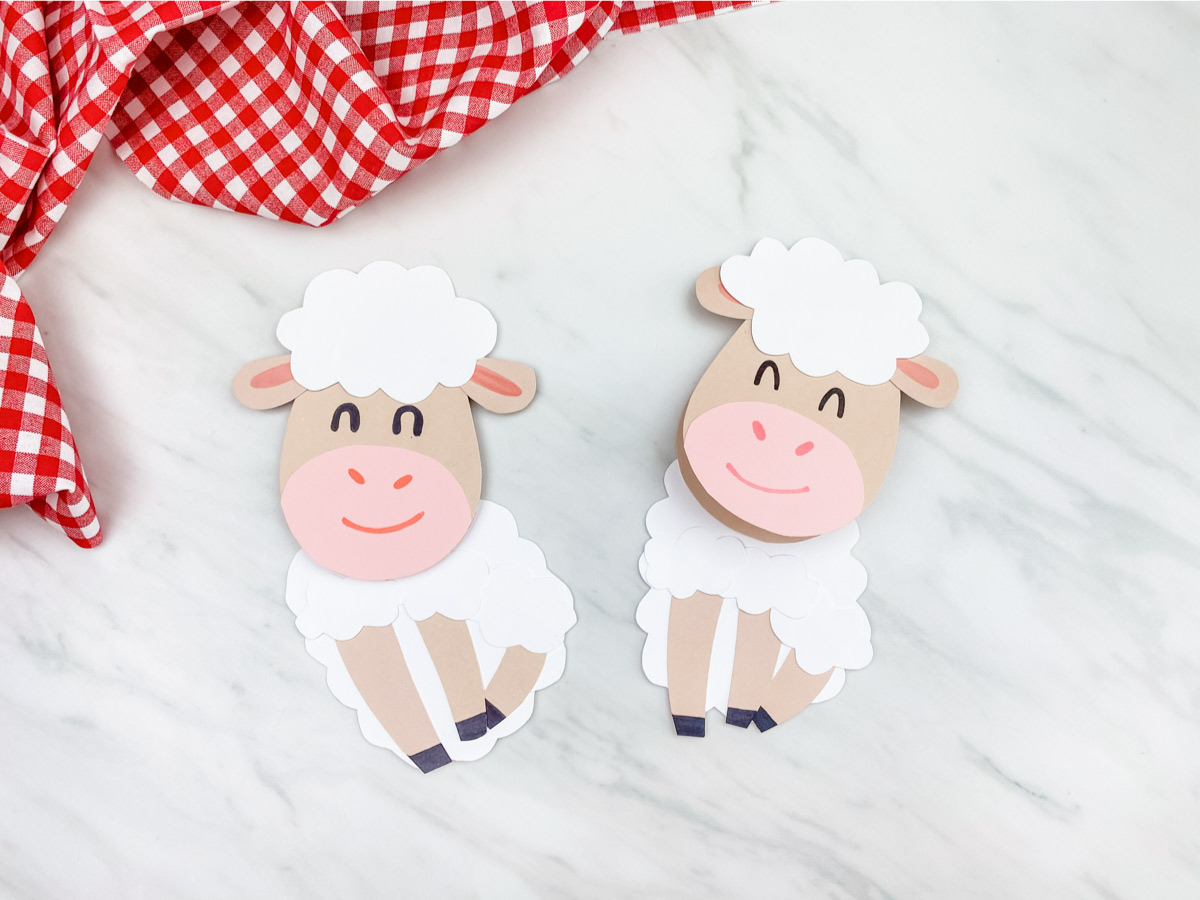 Sheep Card Craft For Kids