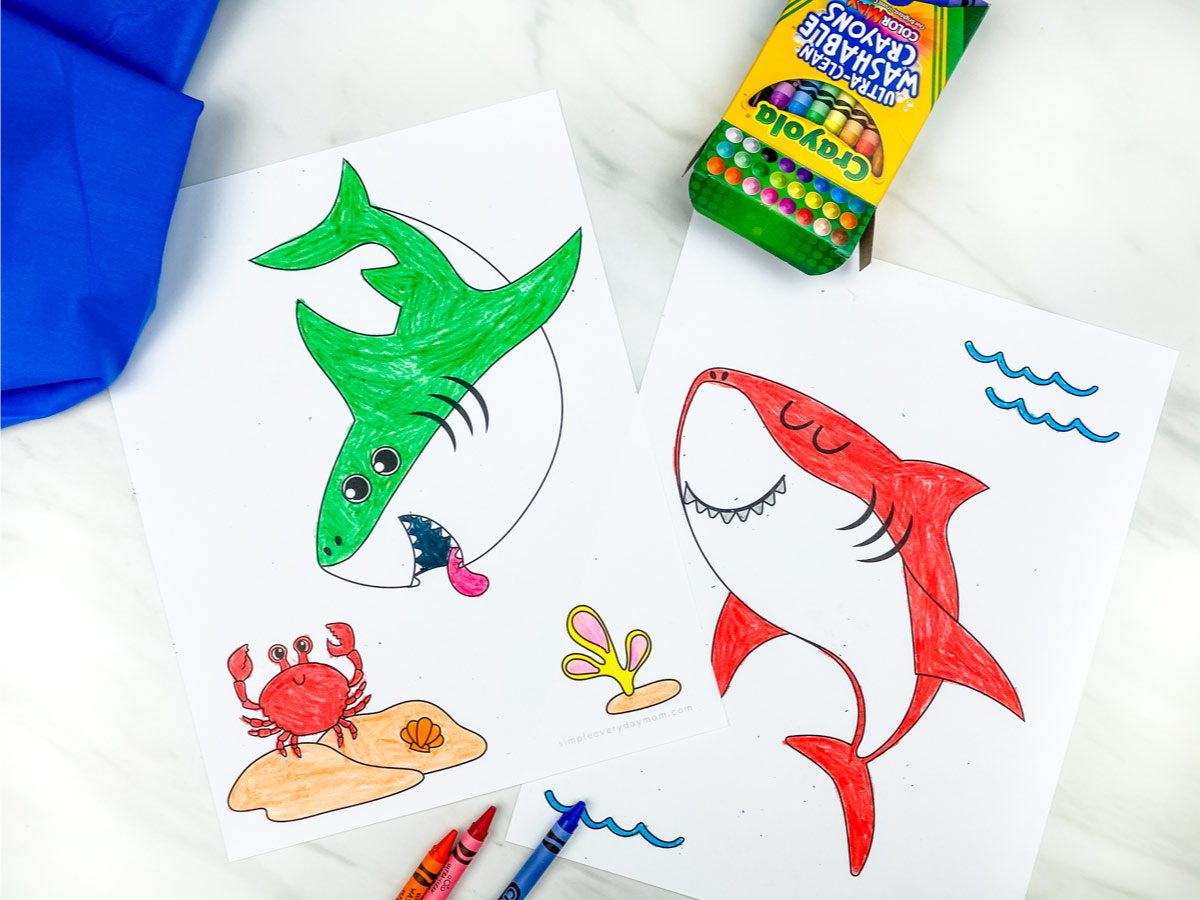 Shark Printable Coloring Pages