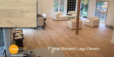 wide plank Monarch Lago Devero wood flooring Portland Oregon
