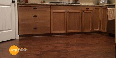Engineered Hickory Wood Flooring - Kitchen