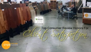 Client Satisfaction award Simple Floors PDX