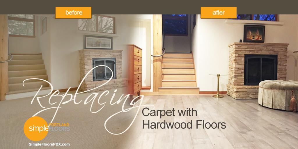 Replacing Carpeting with Hardwood Floors