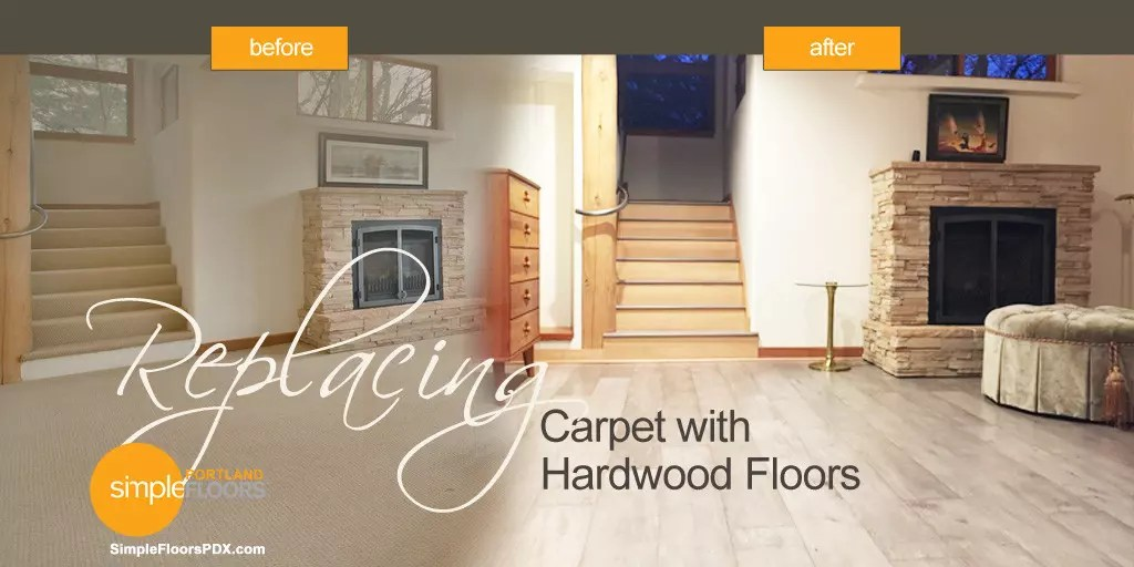 Replacing Carpeting with Hardwood Floors