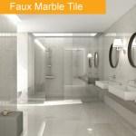 Faux Marble Tile Trend - Bathroom tile