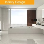 Infinity tile bathroom trend