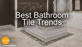 The hottest trends in bathroom tile