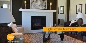 Contrast design with hardwood floor minimalism