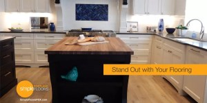 stand out high contrast hardwood floors in the kitchen