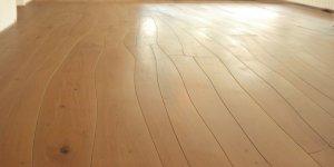 High-end custom hardwood flooring with crazy irregular wood planks