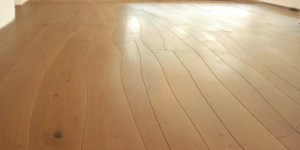 High-end custom hardwood flooring with crazy irregular wood planks