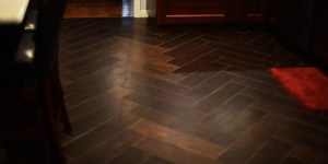 Tile flooring that looks just like custom hardwood flooring