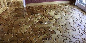 expensive custom hardwood flooring puzzle