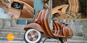 Amazing solid wood scooter