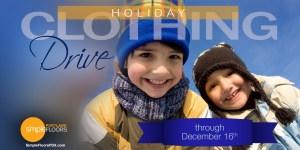 Portland area kids clothing drive