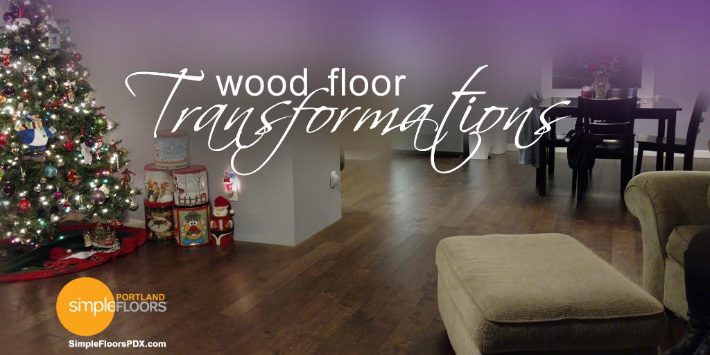 Two Portland Wood Floor Transformations