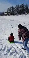 Sledding in Portland Oregon