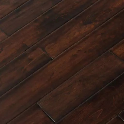 roman handscraped birch solid wood floor