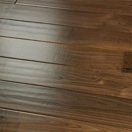 Medium Sculpted Natural Walnut Engineered Hardwood Floors Part 1